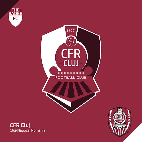 CFR Cluj Badge Redesign Concept by @thebadgefc - CRCW 210