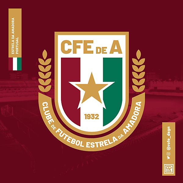 Clube de Futebol Estrella da Amadora   Rebranding By @rofe_dsgn