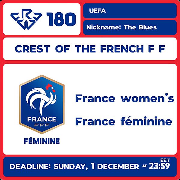 CRCW 180 - FRANCE WOMEN'S NT