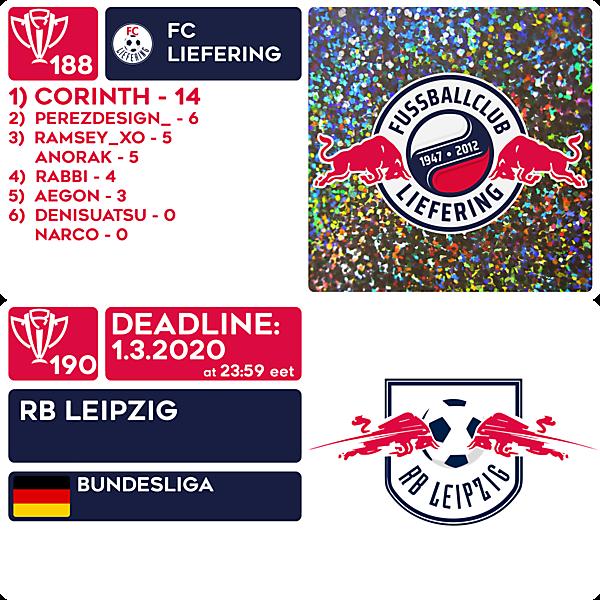 CRCW 188 RESULTS - FC LIEFERING  |  CRCW 190 - RB LEIPZIG