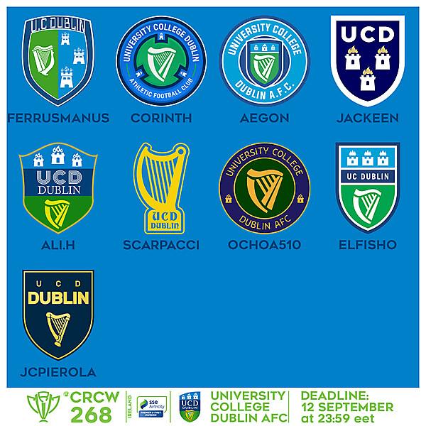 CRCW 268 - VOTING - UNIVERSITY COLLEGE DUBLIN AFC