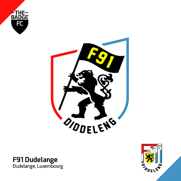 F91 Dudelange Badge Redesign Concept by @thebadgefc - CRCW 211