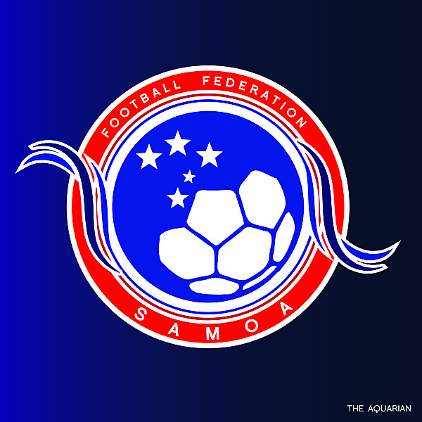 Football Federation Samoa Official Crest Redesign 2021