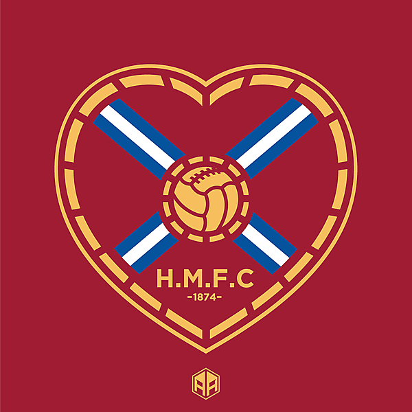 Heart of Midlothian F.C crest redesign