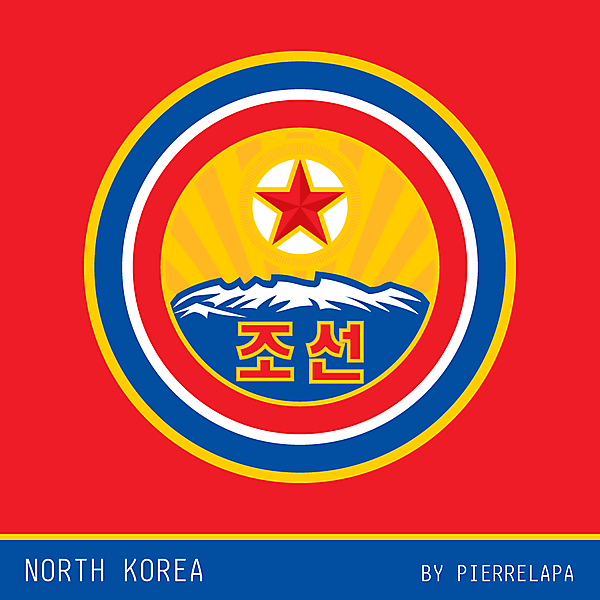 North Korea - football crest redesign