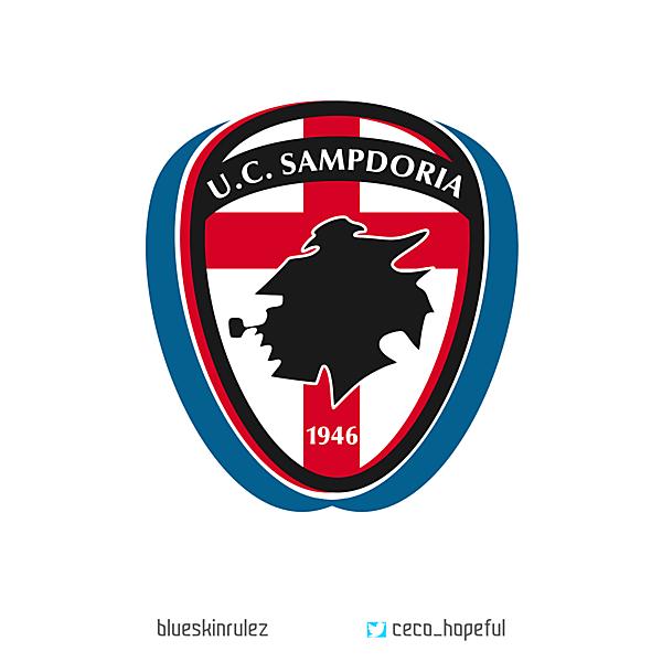 U.C. SAMPDORIA Crest Redesign