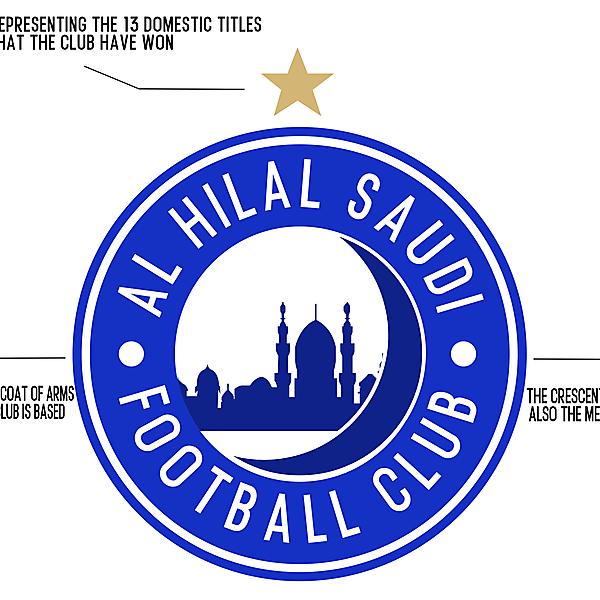 Al-Hilal redesigned logo