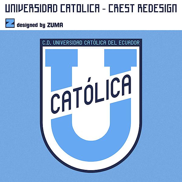 C.D. Universidad Católica del Ecuador | Crest Redesign