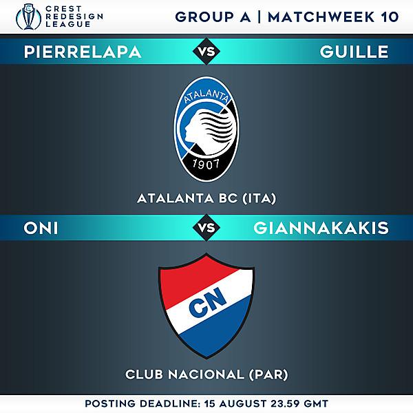 Group A - Matchweek 10
