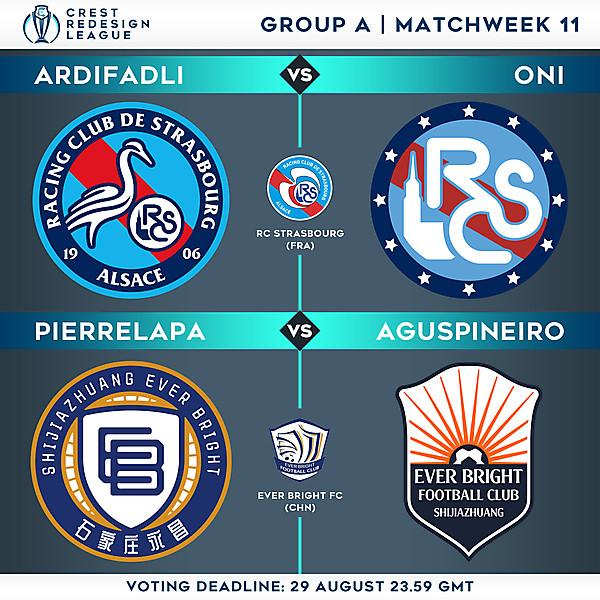 Group A - Matchweek 11 - Voting
