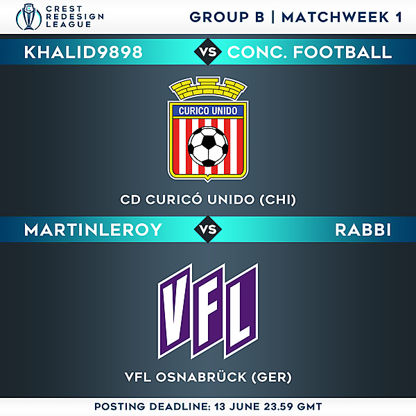 Group B - Matchweek 1