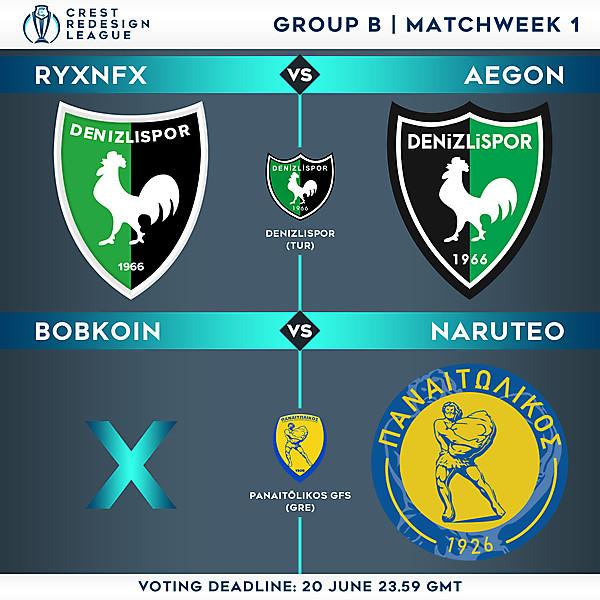 Group B - Matchweek 1 - Voting