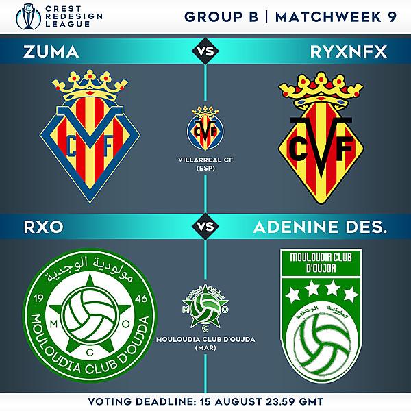 Group B - Matchweek 9 - Voting