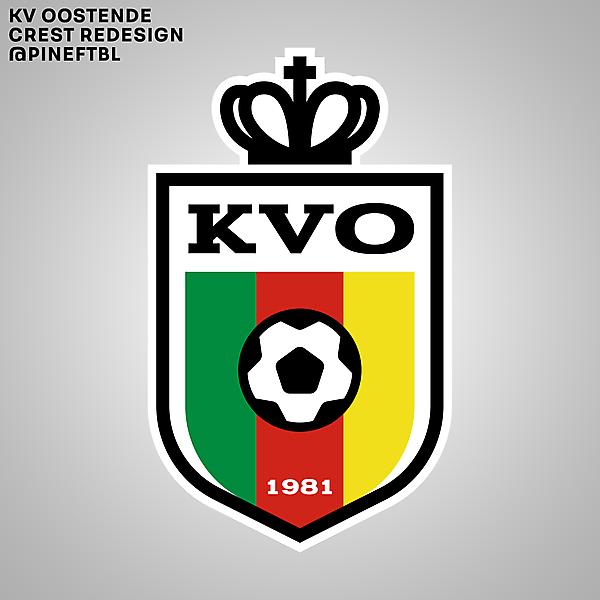 KV Oostende Crest Redesign