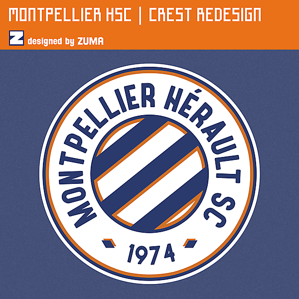 Montpellier HSC | Crest Redesign