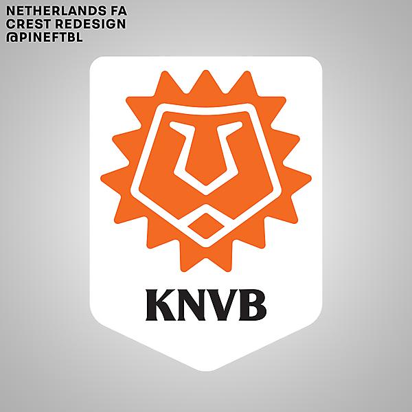 Netherlands FA Crest Redesign