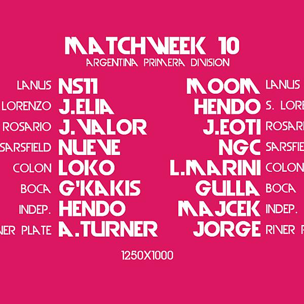 Matchday 10 Draw : Crimson League