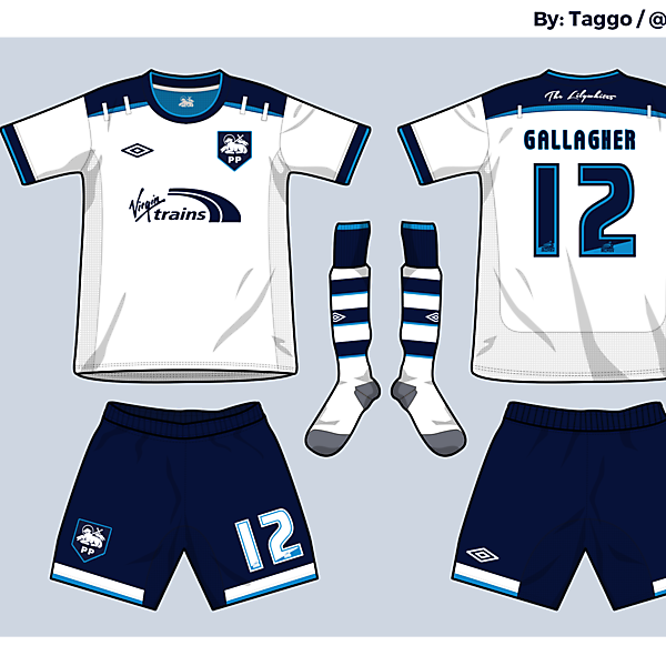 Preston NE FC Home kit - Azure League