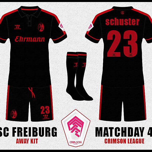 SC FREIBURG Away Kit - Crimson League - Matchday 4 -
