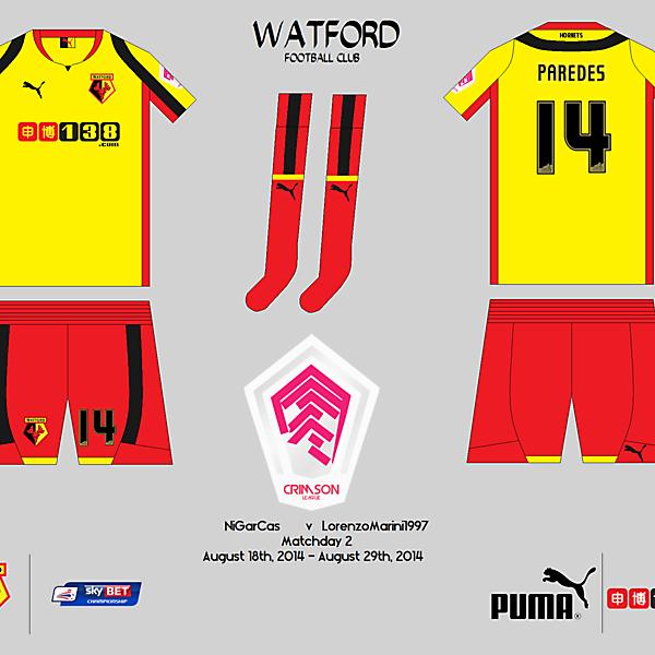 Watford F.C. - Crimson League - Matchday 2