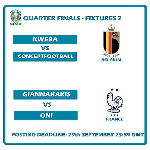 Quarter Finals Fixtures 2