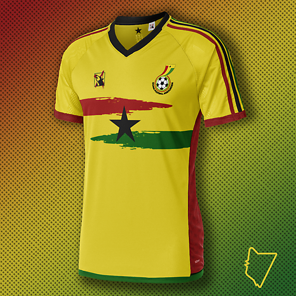 Ghana Away Concept Shirt - Riddesign