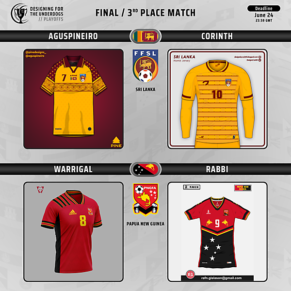 Final and 3rd Place Match // Voting