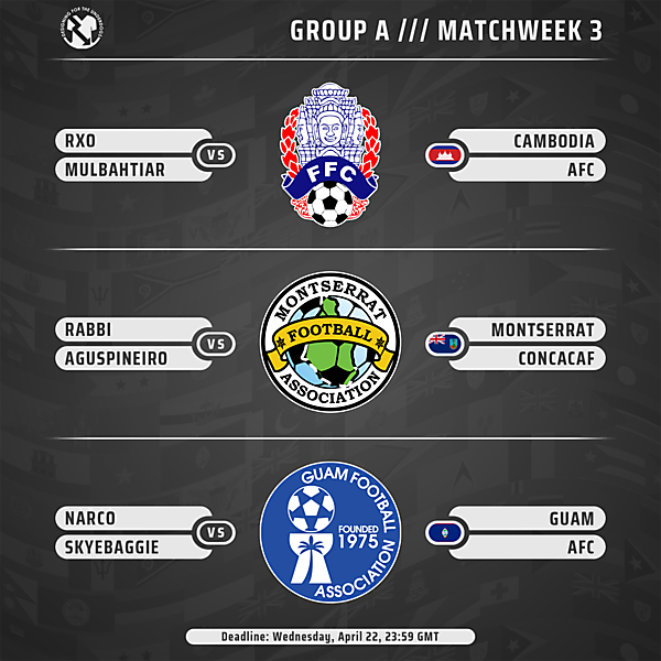Week 3 // Group A // Matches