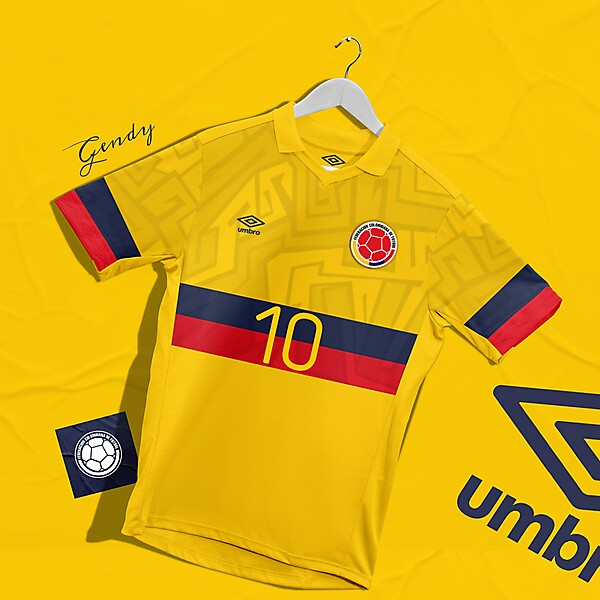 Colombia X Umbro Home Kit Concept