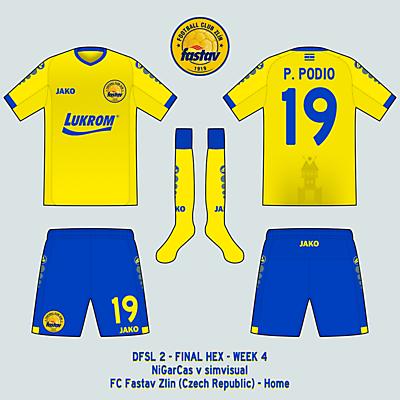FC Fastav Zlin - Home kit