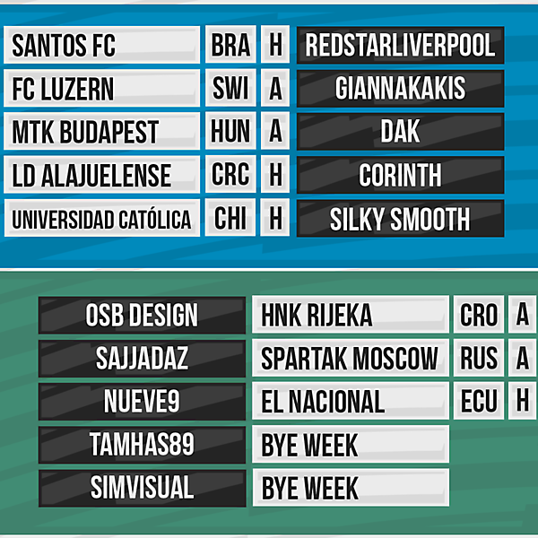 DFSL Round 8 Fixtures