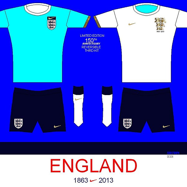 England Limited Edition Third/ Reversible