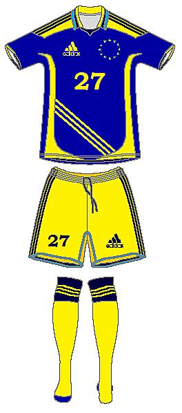 Eurpoean Selection Adidas Home Kit