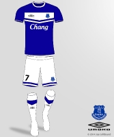 Back on the Scene - The New Everton Kit 14/15 by UMBRO