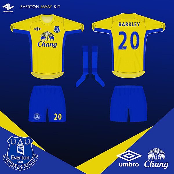 Everton away Jersey 2014/2015