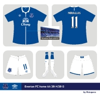 Everton FC Umbro home kit 2014/2015