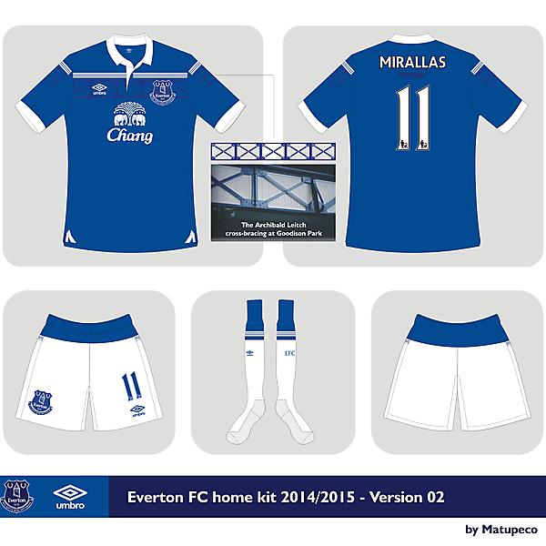 Everton FC Umbro home kit 2014/2015 Version 02
