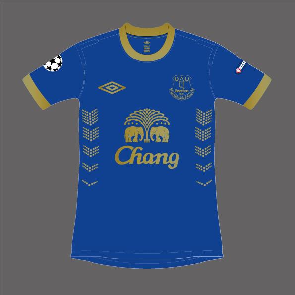 Everton Home Kit 2014/15 Champions League