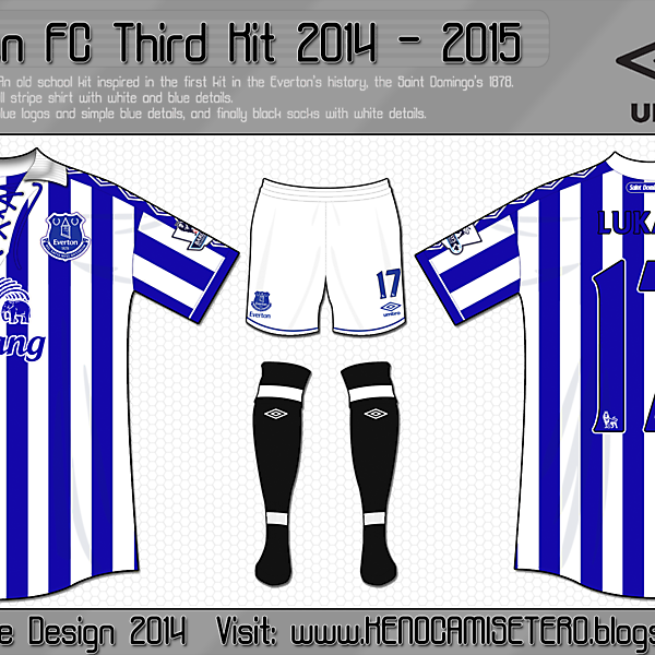 Everton Third Kit 2014 - 2015