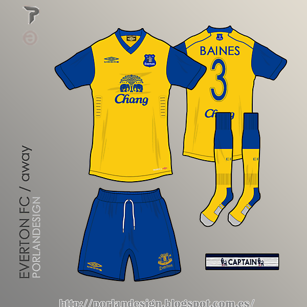 PORLANDESIGN / Everton FC away