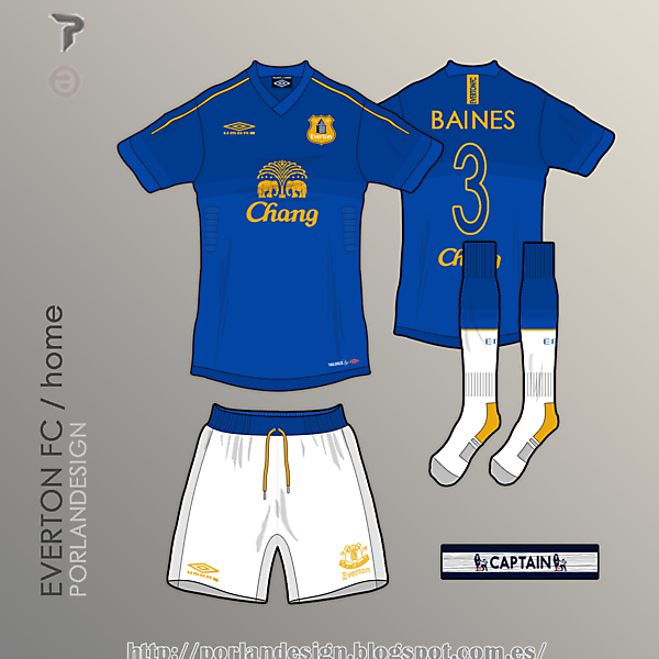 PORLANDESIGN / Everton FC home