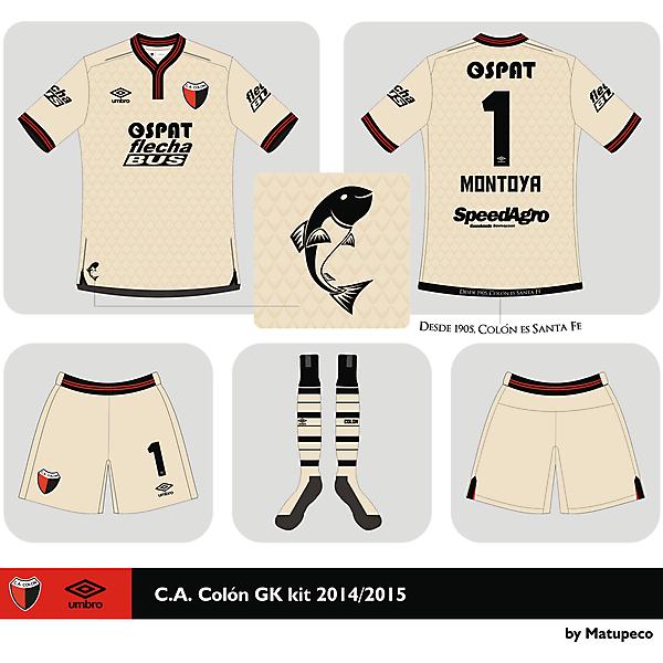 Club A. Colón GK kit 2014 2015