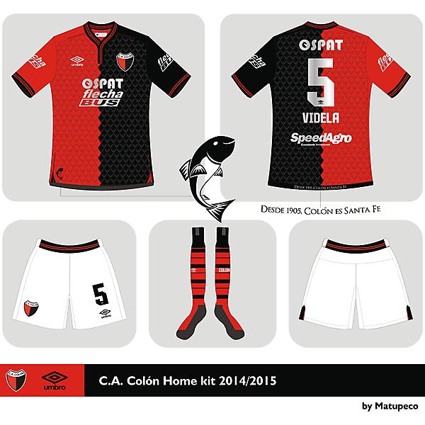 Club A. Colón Home kit 2015 2015