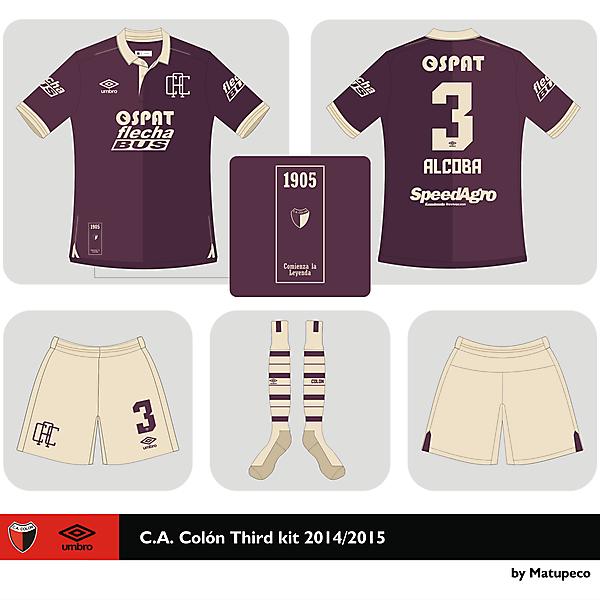 Club A. Colón Third kit 2015 2015