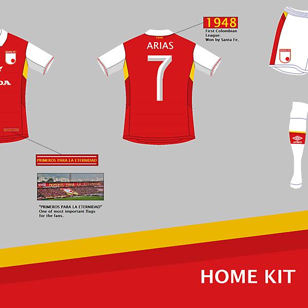 Independiente Santa Fe (COL) Home Kit