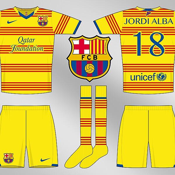 Barcelona Senyera Away