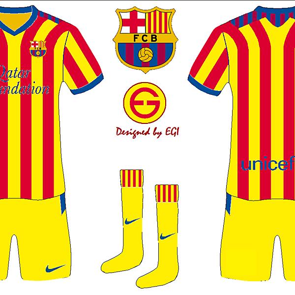 FC Barcelona Away Kit Senyera