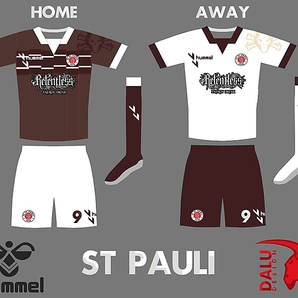 St Pauli Home and Away Kit