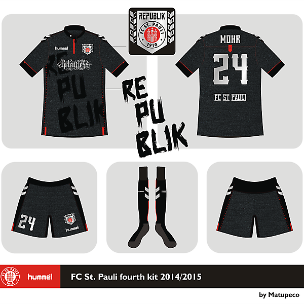 St. Pauli x Hummel fourth shirt 2014 2015