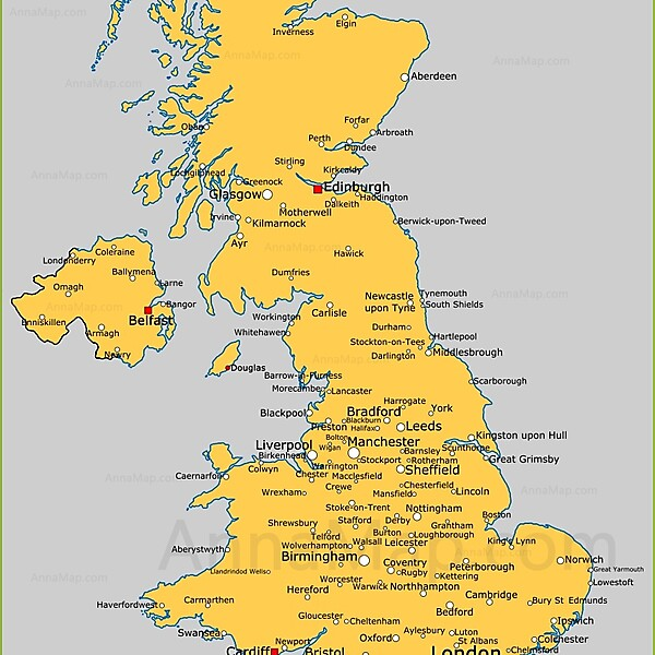 UK Map (for assistance)